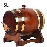 Barril Dispensador De Vino Roble 1.5L/3L/5L/10L/15L/20L/25L/30L Kit De AñEjamiento Whisky Envejecido Barricas,5L