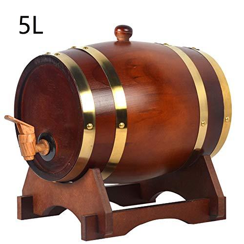 Barril de Whisky Envejecido Barril de Roble de Vino Barricas de Madera Envejecida de Roble de Centeno Canadiense 10L
