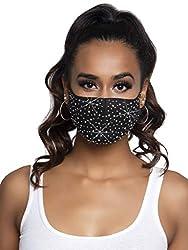 Naya Black Rhinestone Fashionable Face Mask