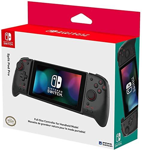 Hori Split Pad Pro, Controller Ergonomico Per la Modalità Portatile - Transparent Black - Ufficiale Nintendo - Nintendo Switch