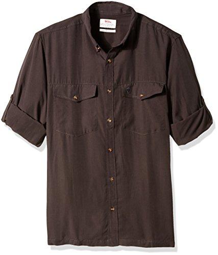 FJÄLLRÄVEN Herren Abisko Vent Shirt LS Hemd, Dark Grey, XL