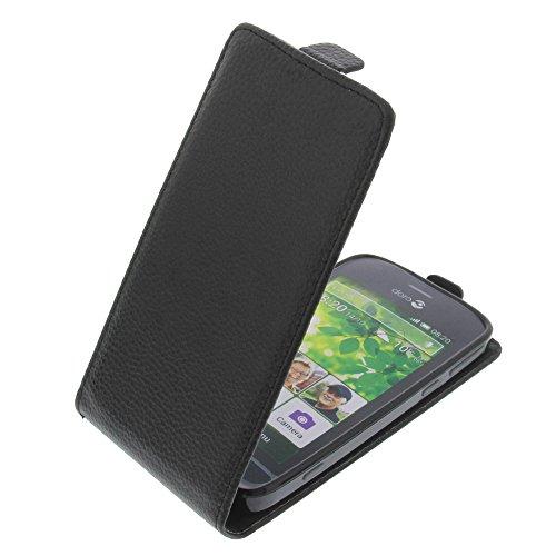 foto-kontor Tasche für Doro Liberto 820 Smartphone Flipstyle Schutz Hülle schwarz