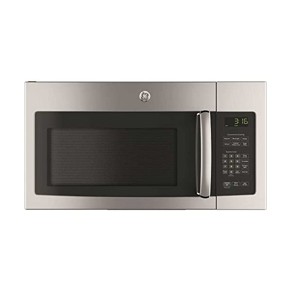 GE JVM3162RJSS 30″ 120 Volts 1.6 cu. ft. Capacity Over the Range Microwave...