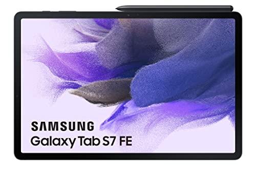 Samsung - Tablet Galaxy Tab S7 FE de 12,4 Pulgadas con Wi-Fi y Sistema Operativo Android Negra ES version