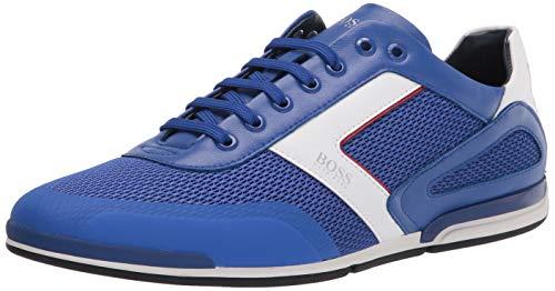 Hugo Boss mens Saturn Profile Low Top Sneaker, Dazzling Blue, 12 US