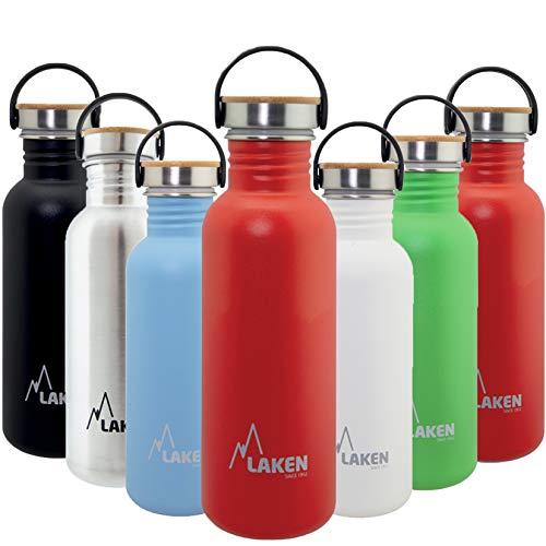 Laken Unisex - Botella de acero inoxidable muy resistente para adultos, 0,5 l, color rojo 0,5