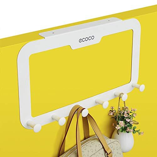 Skroad Colgador de gancho sobre la puerta, almacenamiento resistente para abrigo, toalla, bolso, bata - 6 ganchos