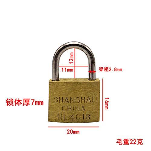 LJQLXJ bloquear 5 candados para PC de 20 mm que se abren con las mismas llaves Candados de cobre con candado para caja de equipaje con cajón Herrajes, 20 mm