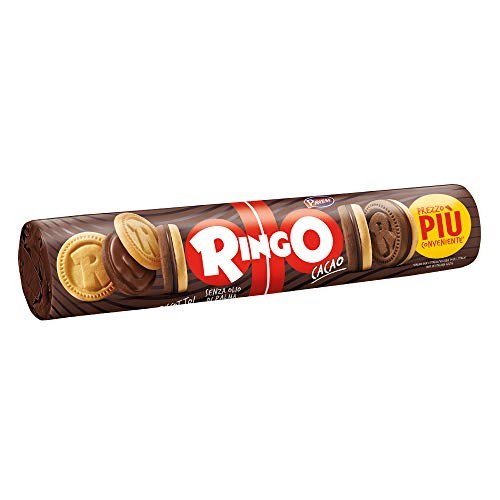 PAVESI 12 Confezioni pasticceria ringo al cacao 165gr tubo