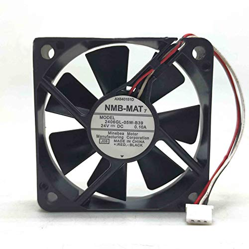2406GL-05W-B39 6015 24V 0.10A 6cm 3-wire double ball frequency converter fan