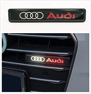 Gooogo AU-LED Aud LED Light Car Front Grille Badge Illuminated Decal Universal For Audi A3 4 5 6 7 Q3 5 7 TT