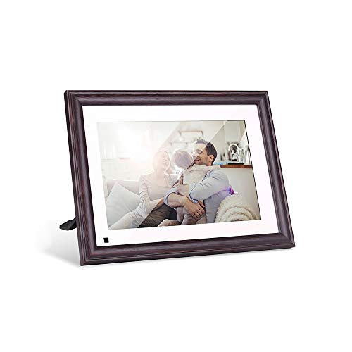 Upgraded Digital Picture Frame WiFi, 10.1 Inch 16GB Photo Frames with IPS HD Touch Widescreen, Free App Easy Setup Anytime Anywhere to Share Photos and Videos, Auto-Rotate Wall-Mountable