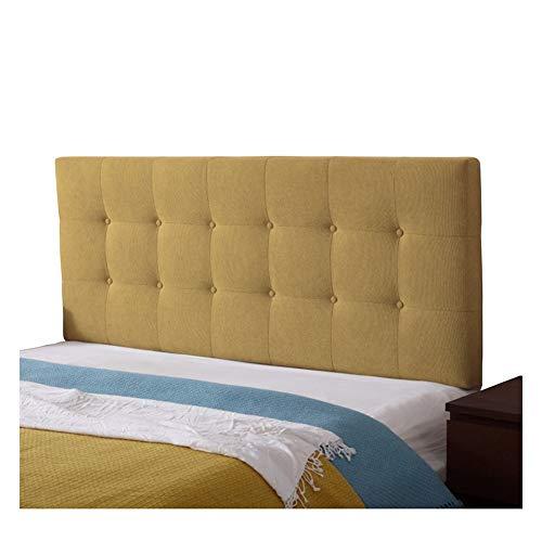 Cabecero Cama Lectura Almohada Respaldo Qiangda Cojín Cintas De Sujeción Fijo Tapizado Lino Tela Cubrir Desmontable for Dormitorios (Color : C, Size : 135x8x72cm)