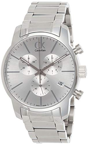 Calvin Klein uomo-orologio Cronografo in acciaio inox luenette K2G27146