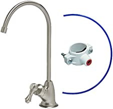 Lead-Free 100% Safe KleenWater Reverse Osmosis RO Kitchen Faucet, Air Gap Brushed Nickel Water Faucet, Luxury European Style, IAPMO Certified