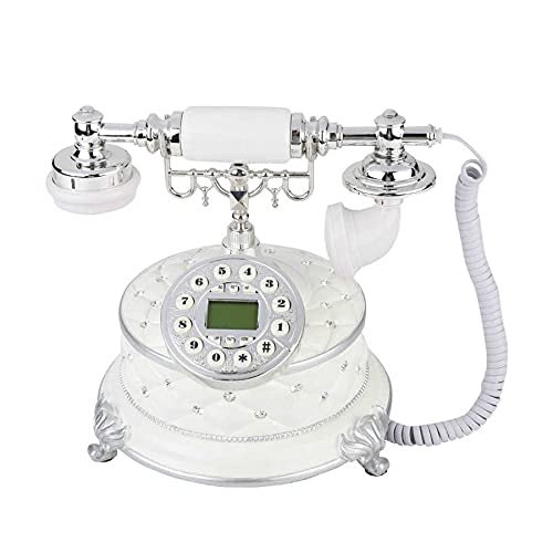 WaWeiY Teléfono Antiguo Retro Europeo de Escritorio con Cable Fijo Fijo teléfono Fijo teléfono Vintage Teléfonos Antiguos para el Negocio en el hogar