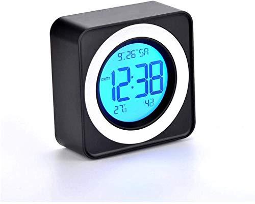 Creative Bedside Klok Kalender temperatuur snooze Europese mute kinderen oudere studenten elektronische Leuke wekker backlight Cute Wekker