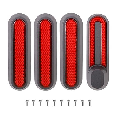 BST-MAI Cubierta reflectante para rueda de scooter, compatible con Mi Pro 2/M365/1S, accesorios de scooter eléctrico con tornillo trasero rueda lateral cubierta decorativa (rojo)