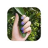 2020 moda hermoso color caramelo uñas terminadas uñas postizas párrafo corto 24 piezas violeta N107-3pcs-