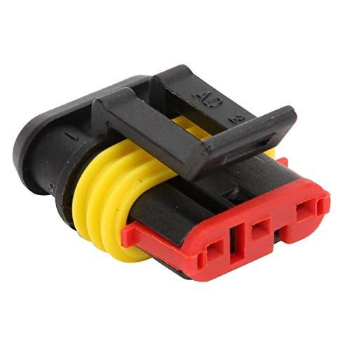 Conector de cable eléctrico para automóvil Conector 1P 2P 3P 10 juegos Diseño de hebilla IP68 para motocicleta(3P)