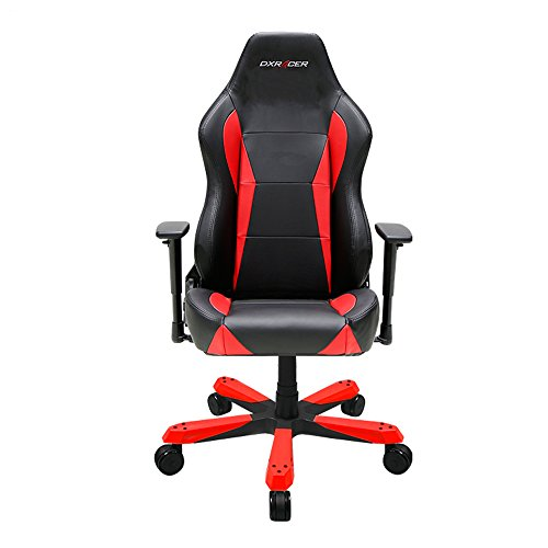 DXRacer Wide Series DOH/WZ0/NR Newedge Edition Racing Bucket Seat Office Chair Gaming Chair Ergonomic Computer Chair eSports Desk Chair Executive Chair Furniture With Pillows (Black/Red)