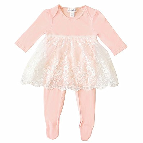 Nina&Nelli Baby Girls Sleeper Pajamas Size 6/9 Months Pink