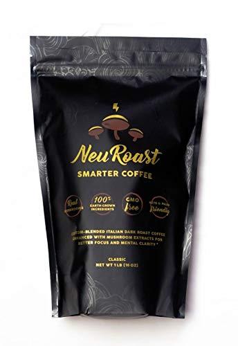 NeuRoast Classic Roast Mushroom Coffee | Best Tasting Mushroom Coffee | Made with Lion's Mane, Cordyceps, Chaga, Reishi, and Turkey Tail