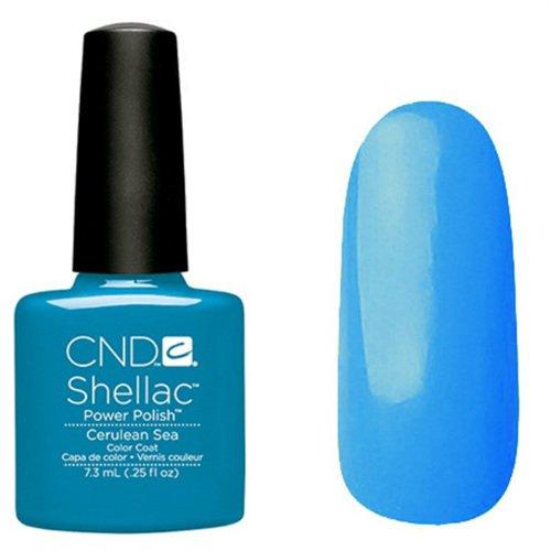 CND Shellac Vernis à ongles en gel UV soak off de choisir parmi 89 couleurs Inc Toutes les collections et la nouvelle collection Garden Muse (allthingsbountiful) (Bleu Mer (Collection Paradise))