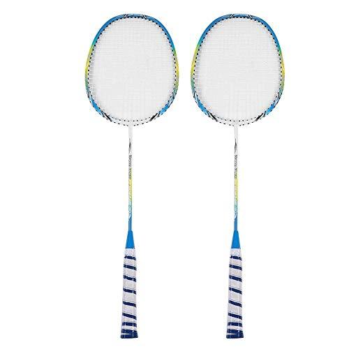 Tbest Badminton-Trainingsschläger, 1 Paar tragbarer, professioneller Carbonfaser-Trainingssport-Badmintonschläger mit Schlägertasche für die Badminton-Praxis