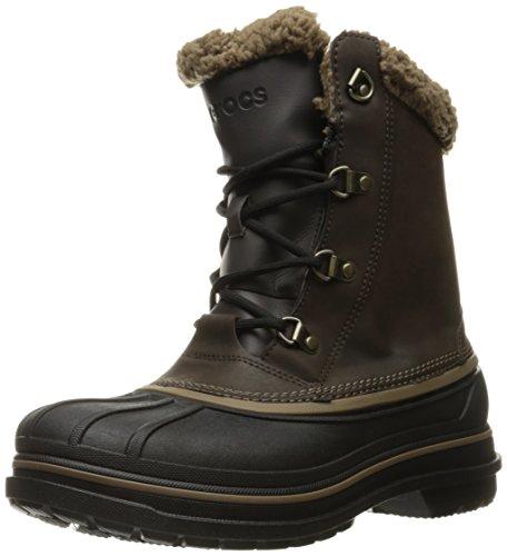 Crocs メンズ オールキャストII スノーブーツ, エスプレッソ/ブラック。, 13