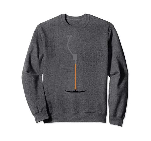 Retro Ski Ankerlift Tellerlift im Skigebiet Shirt Skilift Sweatshirt