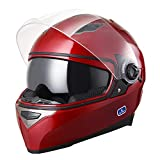 AHR Run-F DOT Motorcycle Full Face Helmet Dual Visors Lightweight ABS Street Bike Motorbike Touring Sports Man Woman