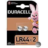 Duracell LR44 Pile bouton alcaline 1,5V, lot de 2 (76A / A76 / V13GA), pour jouets, calculatrices et appareils de mesure