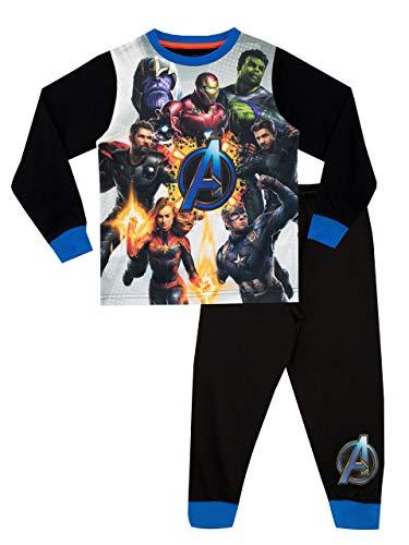 Marvel Jungen Avengers Schlafanzug Schwarz 134