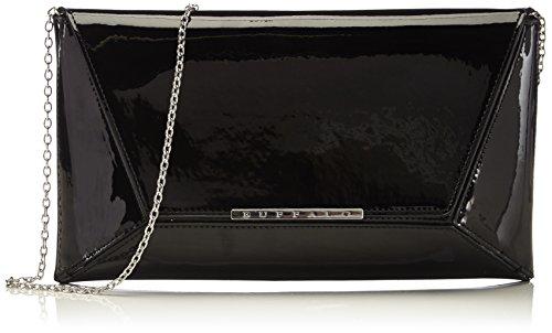 Buffalo BAG 14907 PATENT PU Damen Clutch 1x17x30 cm (B x H x T), Schwarz (BLACK 01)
