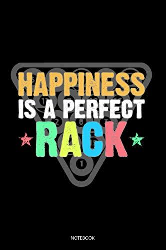 Happiness Is A Perfect Rack: Liniertes Notizbuch A5 - Billiard Pool Notizbuch I Snooker Billiardspieler Geschenk