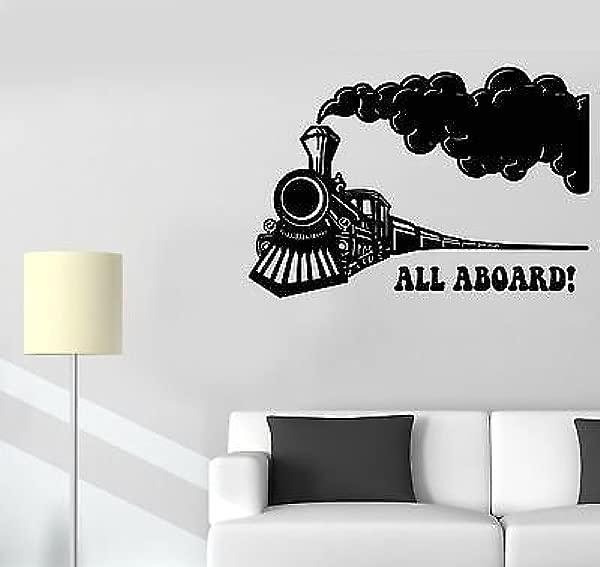 Vinyl Wall Decal Train Locomotive Railway Children S Room Stickers VS444