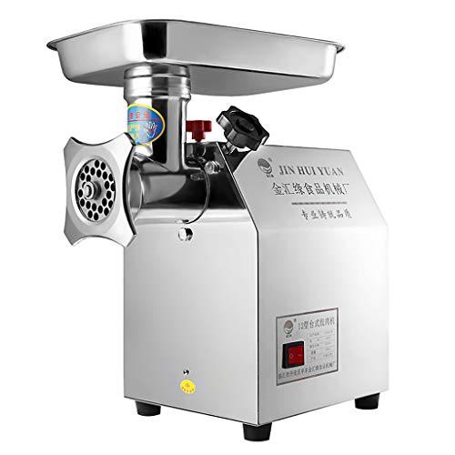 Virtpers Picadora de Carne Comercial eléctrica Máquina de Salchicha para procesadores de Alimentos de Carne de múltiples potencias 850W de Alta Potencia Automática Electrodomésticos de Cocina