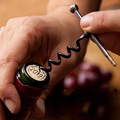 Sacacorchos sacacorchos De Vino Portátil Mini Sacacorchos De Metal De Acero Inoxidable Abrebotellas Doble Bisagra Llavero Para Exteriores Sacacorchos De Vino