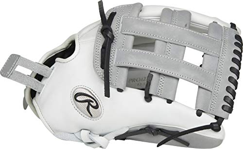 RAWLINGS Herren PRO1275SB-6WG 12 3/4 H/PS Baseball-Handschuh, Grau/Weiß/Schwarz