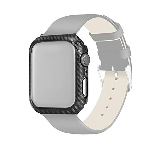 Cover Case QIX PC Carbon Frame Bescherming For Apple Watch Series 4 40mm Beschermend