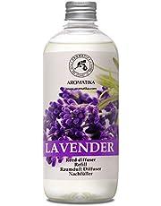 Recarga Difusor con Aceite Esencial de Lavanda 500ml - Natural para Cuartos - Hogares - Oficinas - Restaurantes - Aromaterapia - 0% Alcohol - Ambientador - Aceite Esencial de Lavanda