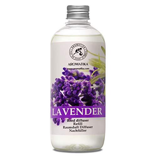 Lavender Fragrance Reed Diffuser Refill 17oz - 500ml - Lavanda Refill - Wardrobe Freshener - Home Fragrance Oil - Air Freshener - Aromatherapy - Essential Lavender Oil Diffuser - Diffuser Refill