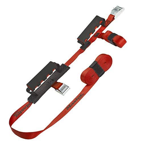 Master Lock 3126EURDAT Zwei Tragegurte mit Griff, Rot, 2,50 m x 2 5mm + 5,5 m x 25 mm Gurte