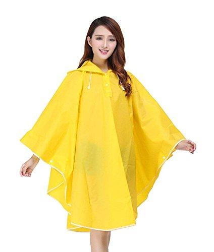 CCZZ Dames Transparant regenponcho met capuchon Draagbare regenjas scheurvaste regenjas regenkleding voor fiets motorfiets winddichte en waterdichte poncho Eva regenjas