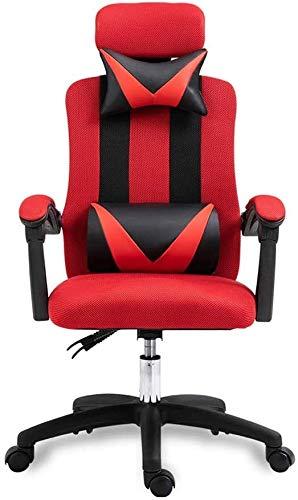 SMLZV Ascensor ergonómico reclinable computadora de Oficina Silla Inicio Butaca de Juego con Respaldo y apoyabrazos, Estilo-Simple (Color : 2)