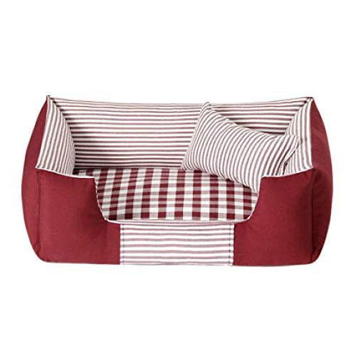 Huisdierbed voor huisdieren, warm en comfortabel, voor alle seizoenen, ter ontlasting van de gewrichten en betere slaap, machinewasbaar. S Rood