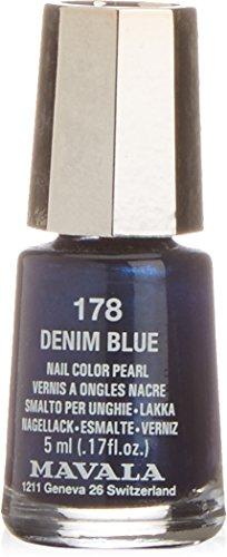 Bella Aurora y Mavala Vernis à ongles de couleur Denim Blue 178