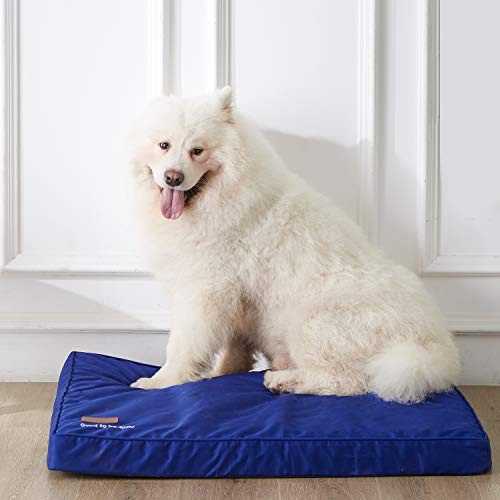 WESTERN HOME WH Dog Beds for Large Dogs, Calming Cooling Dog Bed for Egg Crate Foam Orthopedic Joint with Washable and Removable Cover Waterproof Non-Slip Bottom - L