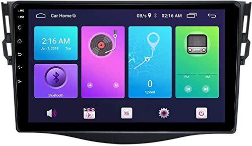 AEBDF Android Sat Nav para Toyota RAV4 2006-2012, GPS Navigation HD Sistema de Pantalla táctil Unidad de Cabeza Coche Estéreo Radio SWC 4G WiFi Espejo Enlace BT,8 Core 4G+WiFi 4+64G